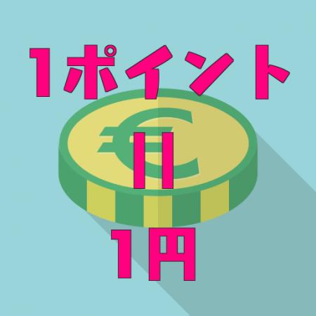 Amazonの1ポイントは1円を表す画像