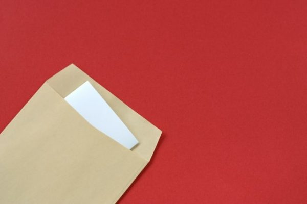 封筒に入った手紙