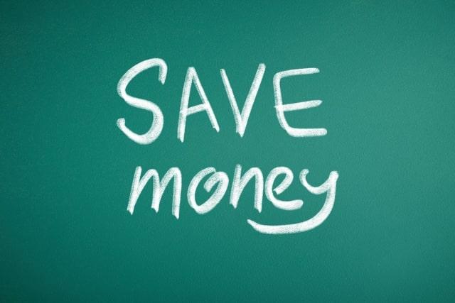 SAVE moneyと文字が書かれている