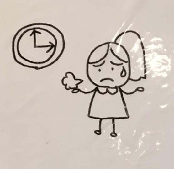 時間がない女性のイラスト