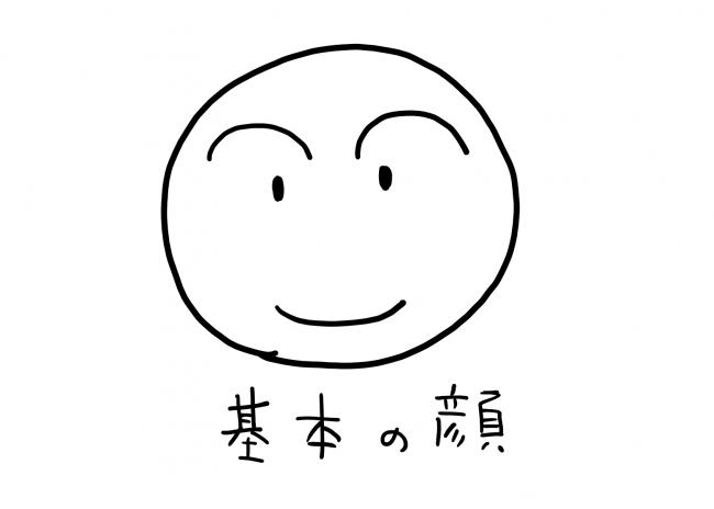 シンプルな顔のイラスト
