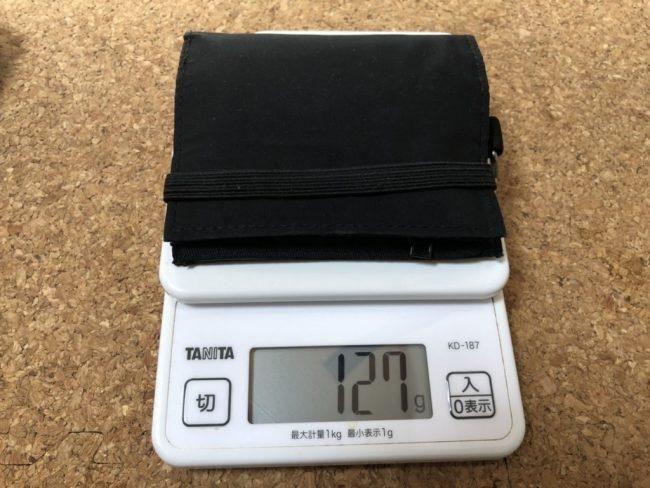 無印良品のトラベル用ウォレットの重さを量ってみた